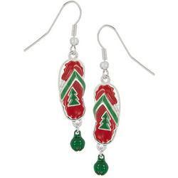 Brighten the Season Flip Flop Holiday Earrings