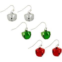 Brighten the Season Jingle Bell 3-pc. Earring Set