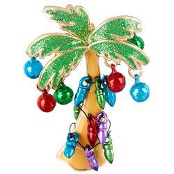 Brighten the Season Holiday Lights & Bulbs Palm Tree Pin