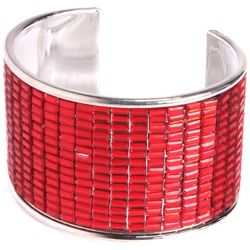 Brighten the Season Holiday Red Cuff Bracelet