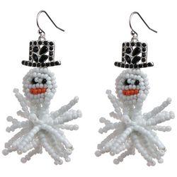 Brighten the Season Holiday Snowman Dangle Earrings