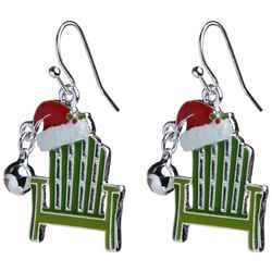 Brighten the Season Holiday Santa Hat & Chair Earrings