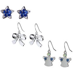 Brighten the Season Stars, Bows & Angels Earring Set