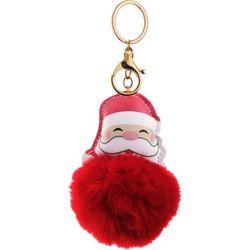 Brighten the Season Santa Claus Pom Pom Key Ring