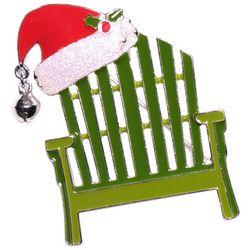 Brighten the Season Holiday Santa Chair Pin