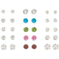 Mega Box Multiples 15-pc. Assorted Stud Earring Set