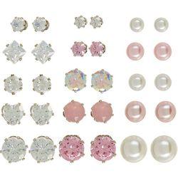 Mega Box Multiples 15-pc. Faux Pearl & CZ Assorted Earrings