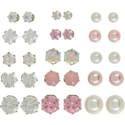 Mega Box Multiples 15-pc. Faux Pearl & CZ Assorted Earrings