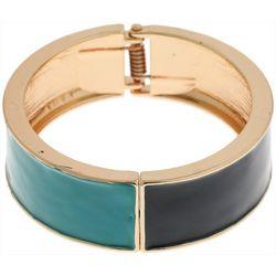 Nautica Enamel Hinged Cuff Bangle Bracelet