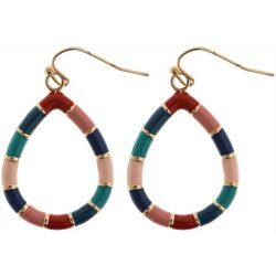 Nautica Multi Enamel Open Teardrop Earrings