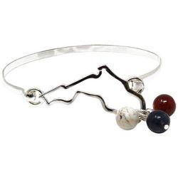 Florida Roots State Of Florida Charm Bangle Bracelet