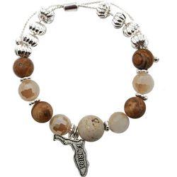 Florida Roots Florida Charm Agate Beaded Bracelet