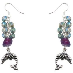 Florida Roots Dolphin & Bead Cluster Earrings