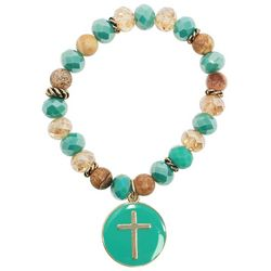 Florida Roots Faith Forward Cross Charm Bracelet