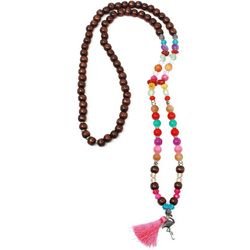 Florida Roots Multi Beaded Flamingo Necklace