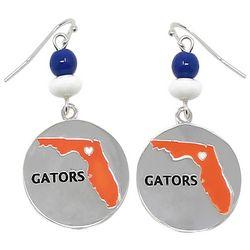 Florida Gators Florida Heart Disc Earrings by Collegiate