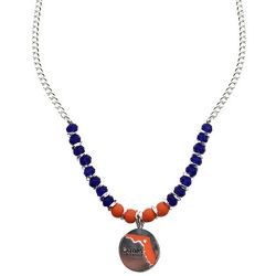 COLLEGIATE Heart & Florida Disc Beaded Necklace