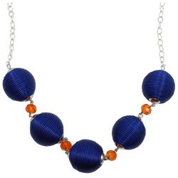 Florida Gators Blue Threaded Round Bead Fashion Necklace