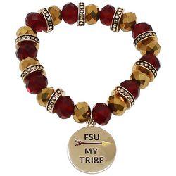 COLLEGIATE Garnet Red & Gold Tone My Tribe Charm Bracelet