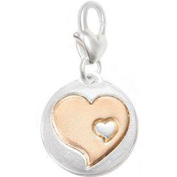 Amanda Blu Two Tone Double Heart Charm