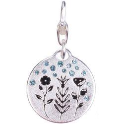 Amanda Blu Silver Tone Flower Charm