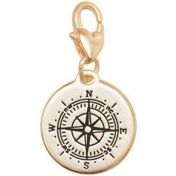 Amanda Blu Gold Tone Compass Adventures Charm