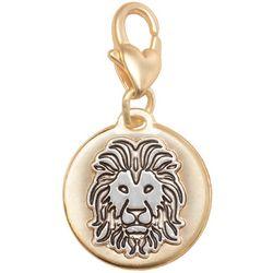 Amanda Blu Two Tone Lion Courage Charm