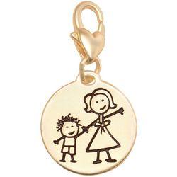 Amanda Blu Gold Tone Good Kid Great Mom Charm