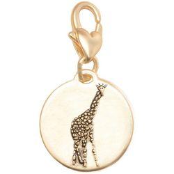 Amanda Blu Gold Tone Stand Tall Giraffe Charm