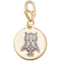 Amanda Blu Gold Tone Owl Wisdom Charm