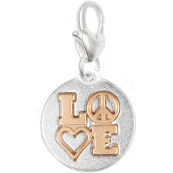 Amanda Blu Two Tone Love Peace Heart Charm
