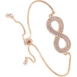 Amanda Blu Gold Tone Infinity Symbol Slider Closure Bracelet