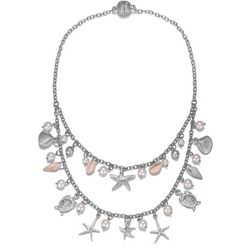 JEWELS TO JET Double Row Sea Life & Faux Pearl Necklace