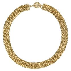 JEWELS TO JET Kingston Gold Tone Mesh Necklace