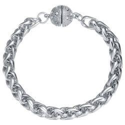 JEWELS TO JET Silver Tone Wheat Chain Bracelet