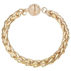 JEWELS TO JET Monaco Gold Tone Wheat Chain Bracelet