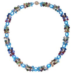 JEWELS TO JET Multi Glass Beaded Long Necklace