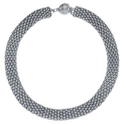JEWELS TO JET Kingston Silver Tone Mesh Necklace