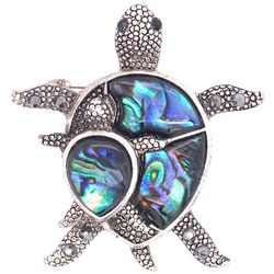 Jewelry Made By Me Abalone Shell Mom & Baby Turtle Pin