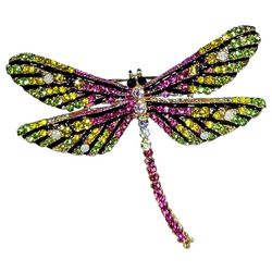 Jewelry Made By Me Pave Rhinestone Dragonfly Pin