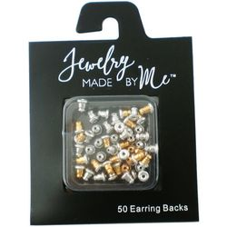 Jewelry Made By Me 50-pc. Two Tone Bullet Earring Backs