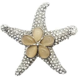 Jewelry Made By Me Rhinestone Starfish Pin