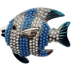 Jewelry Made By Me Blue Stripe Fish Pin