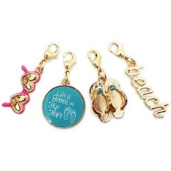 Jewelry Made By Me Gold Tone 4-pc. Beach Life Charms