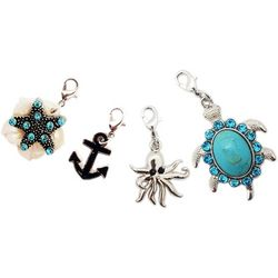 Jewelry Made By Me Silver Tone 4-pc. Sea Life Charms