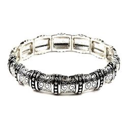 Napier Pressed Filigree Segmented Bracelet