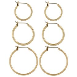 Napier 3-pc. Gold Tone Hoop Earring Set