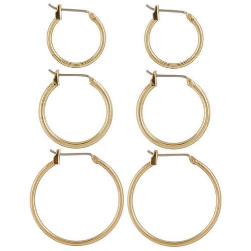 ef5497eb6c1 Napier 3-pc. Gold Tone Hoop Earring Set