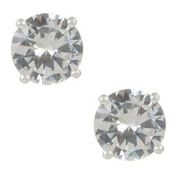 Napier 8mm CZ Stud Earrings