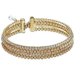 Napier Bead & Rhinestone Adjustable Cuff Bracelet